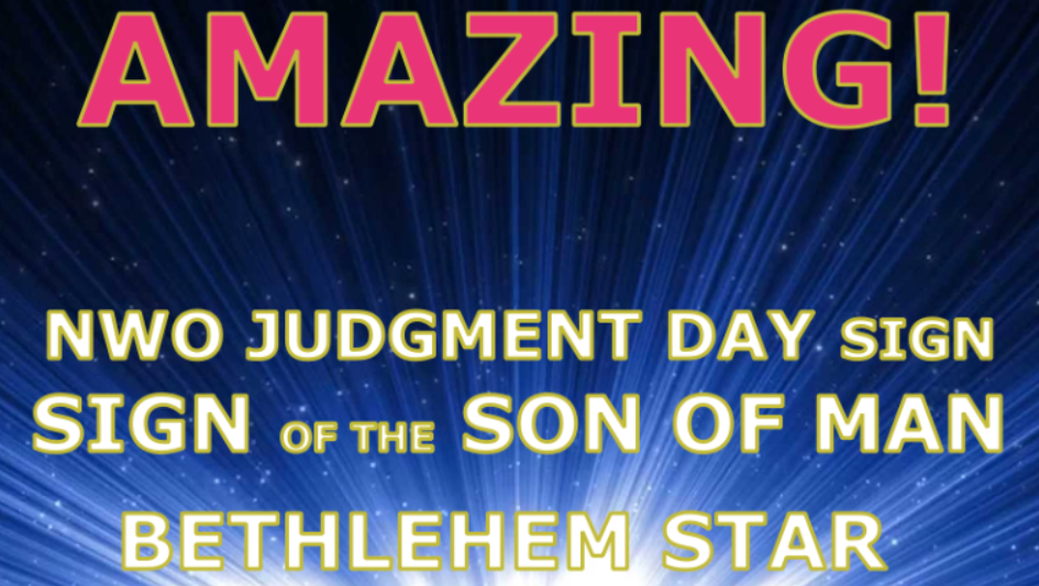 1 Bethlehem Star, Sign of Judgment, Sign of Son of Man