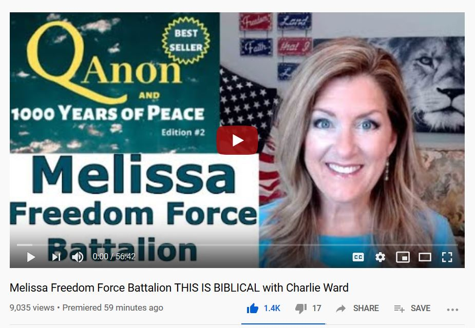 Melissa Freedom Force Battalion THIS IS BIBLICAL-Charlie Ward