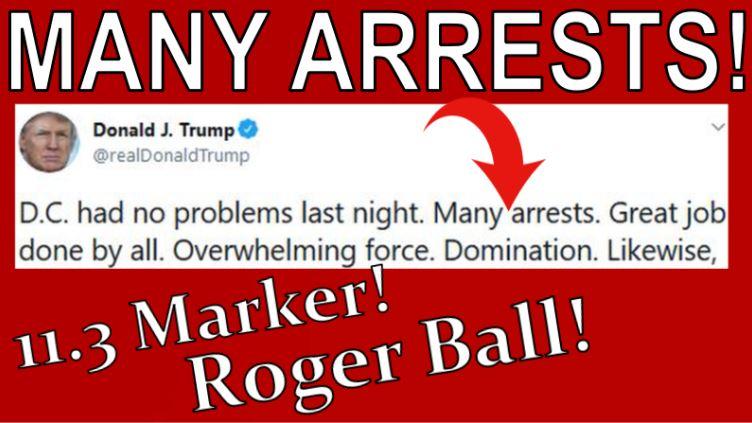 Arrests Tweet, DC Riots, Deploy, Roger Ball