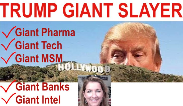 Giant Slayer Trump!  Destroying Big Tech, Pharma, Media