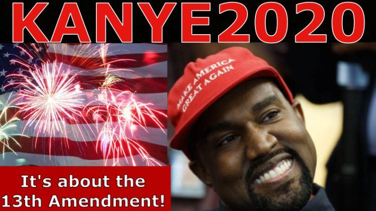 Kanye 2020-13th Amendment Slavery! Trump at Mt Rushmore, Trafficking Dress