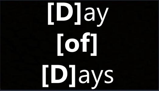 Day of Days – Day of Reckoning- Isaiah 2 – JFK