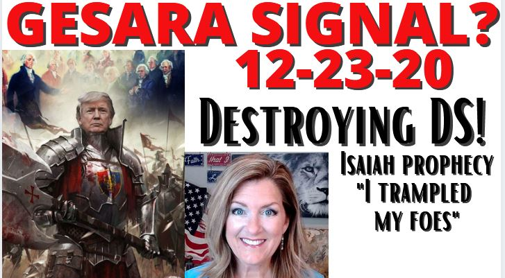 Gesara Signals? 12-23-20 + Isaiah 41-66