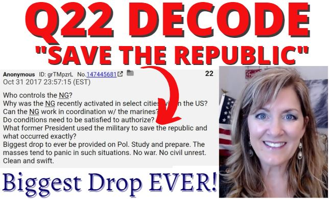 Q22 Decode – Save the Republic (Act of 1871 & Reconstruction) 3-18-21