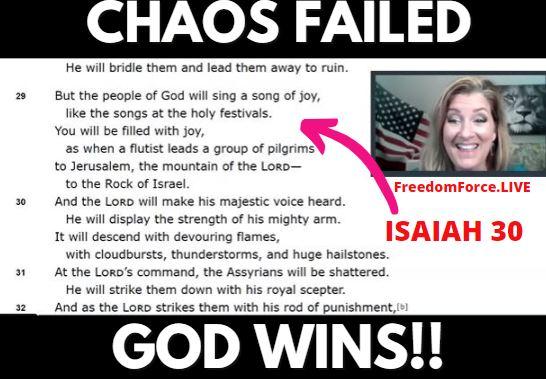 Antifa & BLM NWO Chaos Failed – God Wins!  Isaiah 30