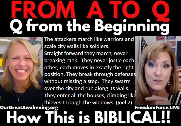 From A to Q – Melly tells the history of Q & how This is Biblical! 4-23-21
