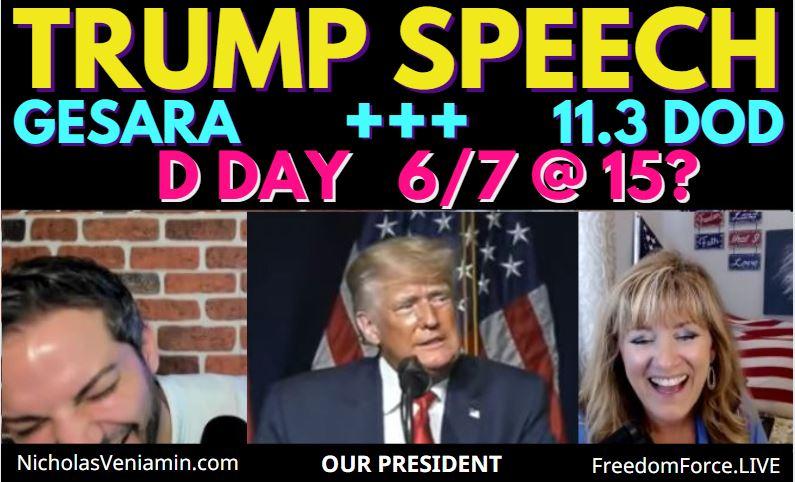 D DAY 6/7, 11.11 DOD Arrests, GESARA, Trump is Our President! Nick Veniamin 6-7-21