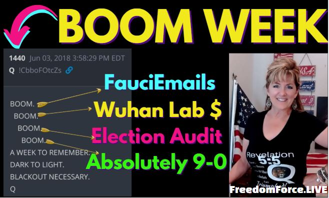 BOOM WEEK FAUCIEMAILS WUHAN LAB, ELECTION AUDIT, ABSOLUTELY 9-0 144,000 6-4-21