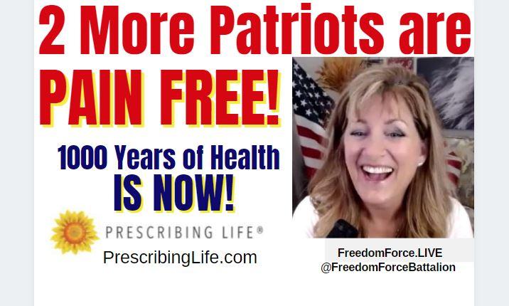 MORE PATRIOTS ARE PAIN FREE! PRESCRIBINGLIFE.COM 8-11-21