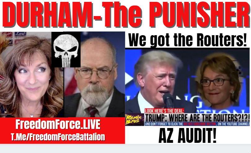 DURHAM THE PUNISHER – INDICTMENT UNSEALED, AZ AUDITS 9-19-21